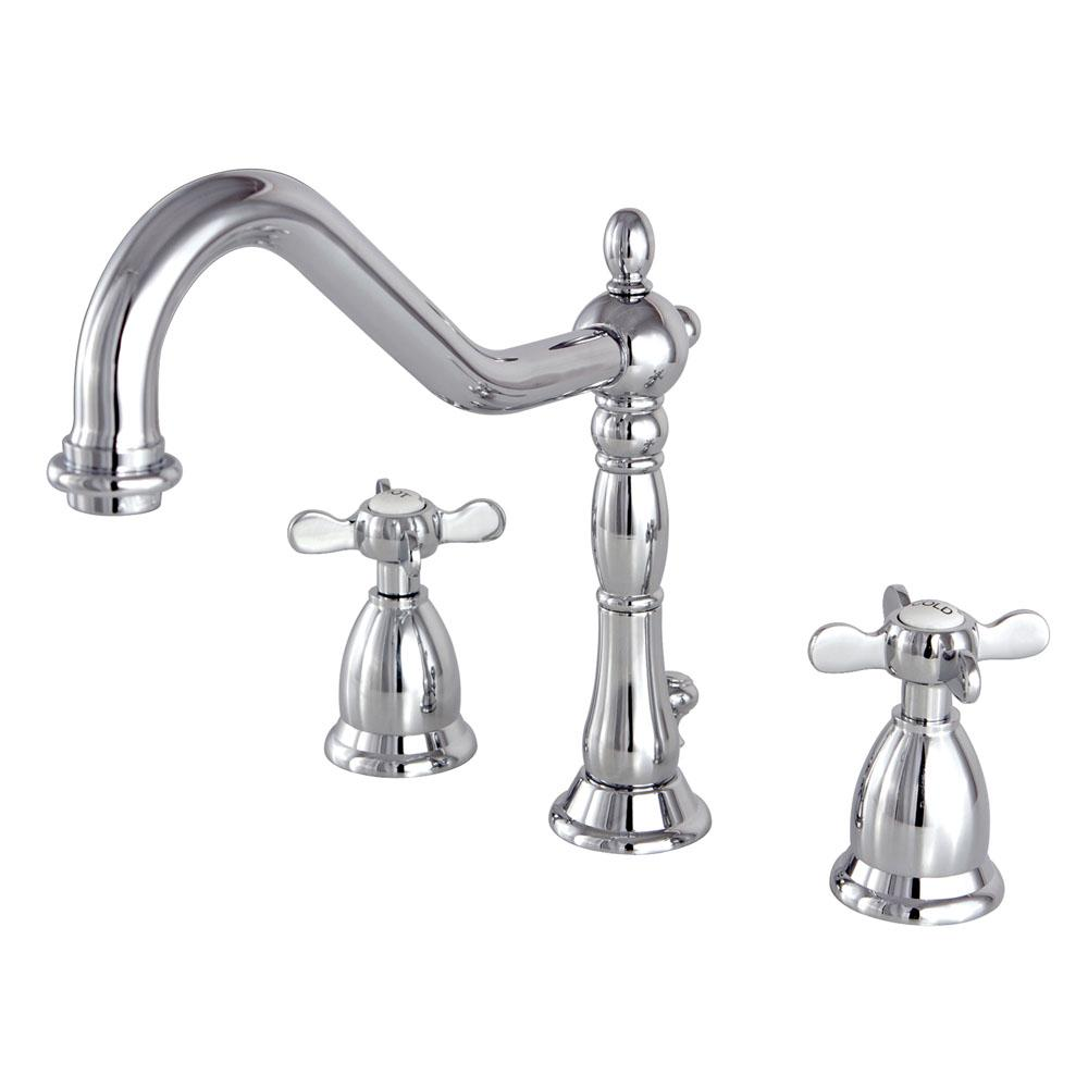 Kitchen Sink Faucets Home Depot: Kingston Brass Victorian Cross 8 In. Widespread 2-Handle