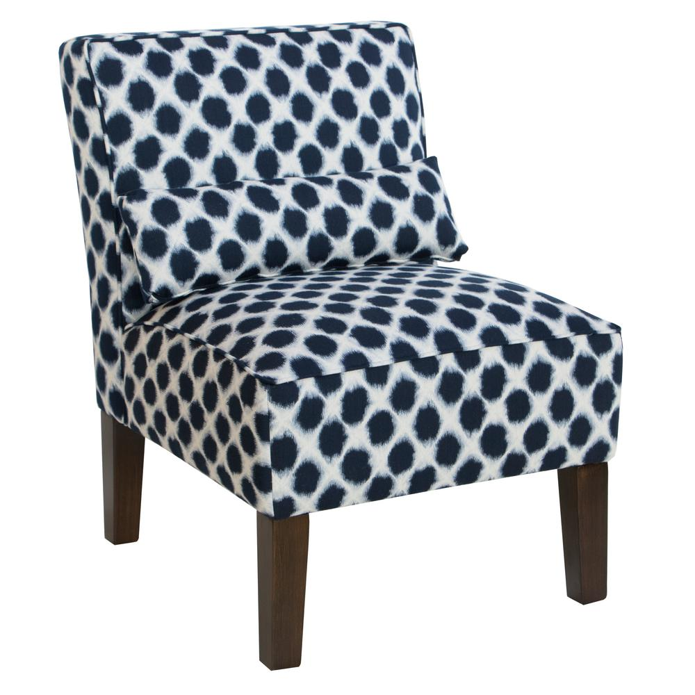 Exceptional Shibori Indigo Armless Chair
