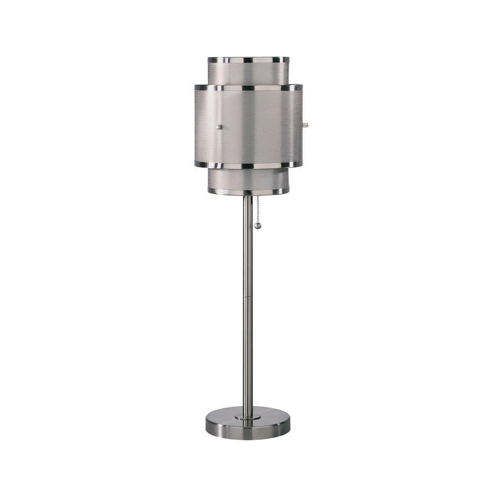 Illumine Designer Collection 27.5 in. Steel Fluorescent Table Lamp