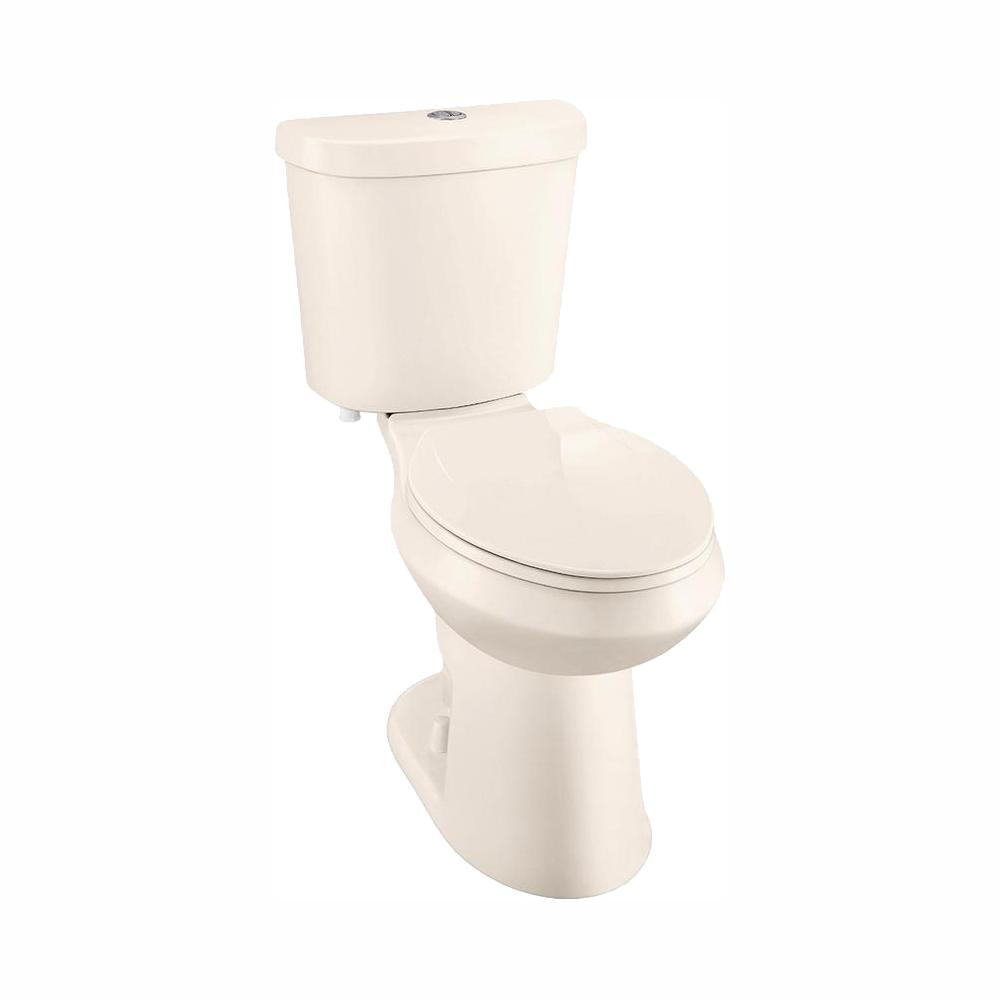 Glacier Bay 2-piece 1.1 GPF/1.6 GPF High Efficiency Dual Flush Elongated Toilet in Bone