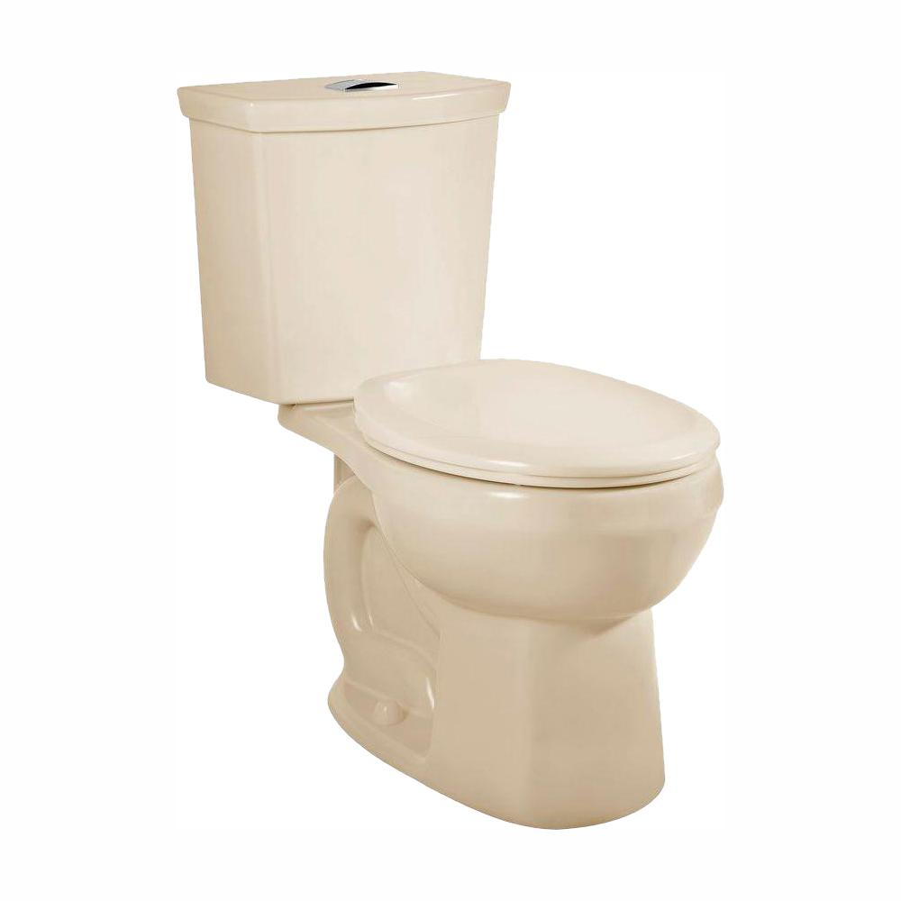 American Standard H2Option 2-piece 0.92/1.28 GPF Dual Flush Round Front Toilet in Bone, Seat Not Included