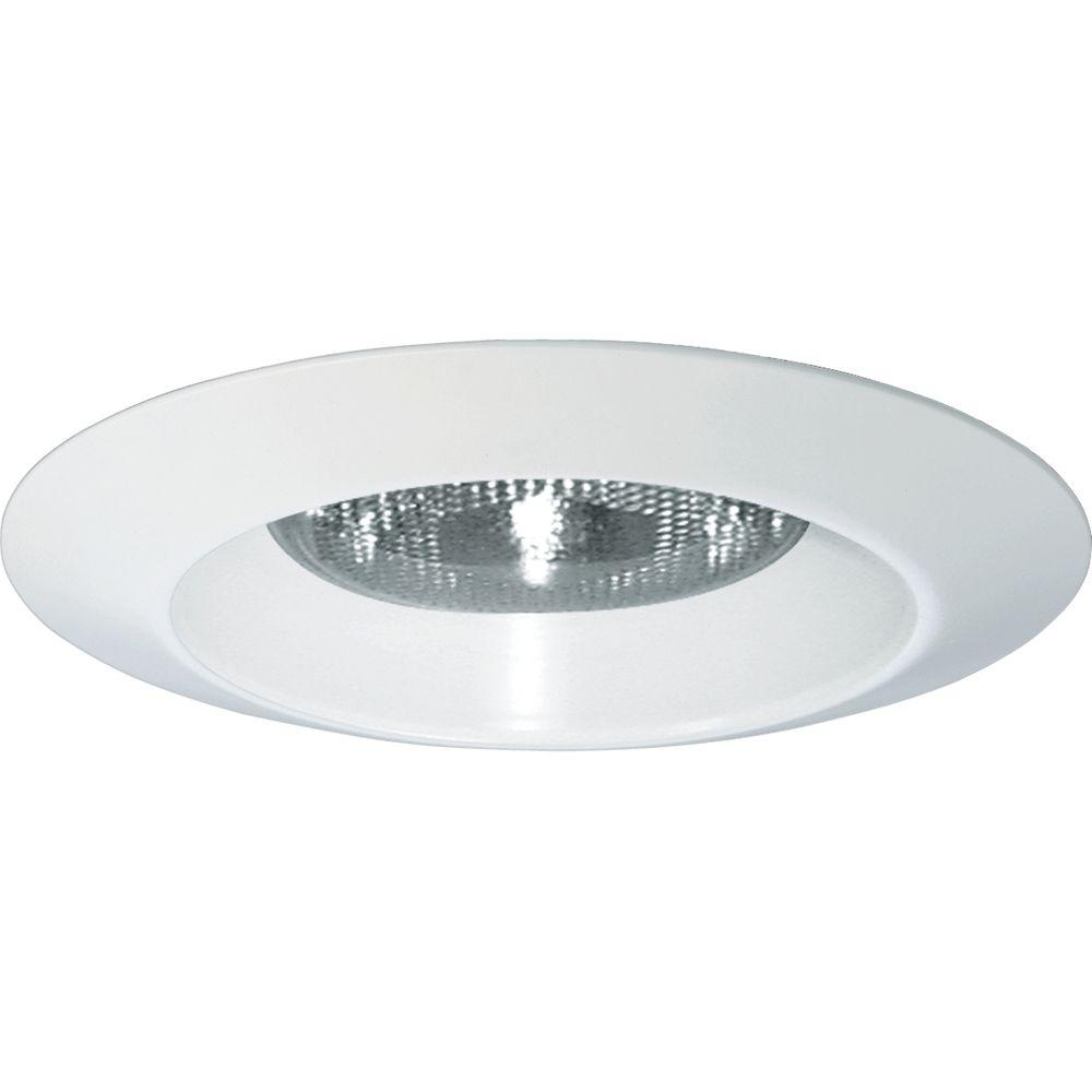 Progress Lighting 6 In White Recessed Open Splay Trim