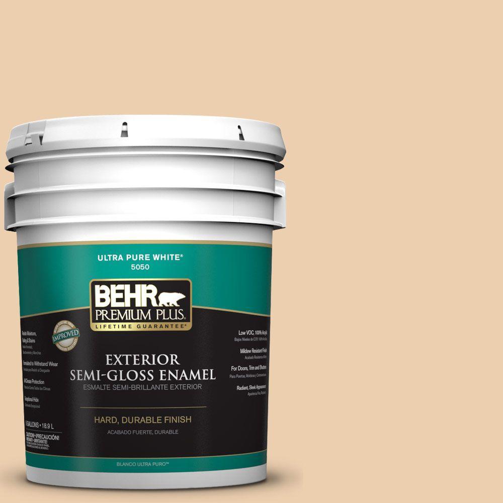 BEHR Premium Plus 5-gal. #S270-2 Chai Semi-Gloss Enamel Exterior Paint