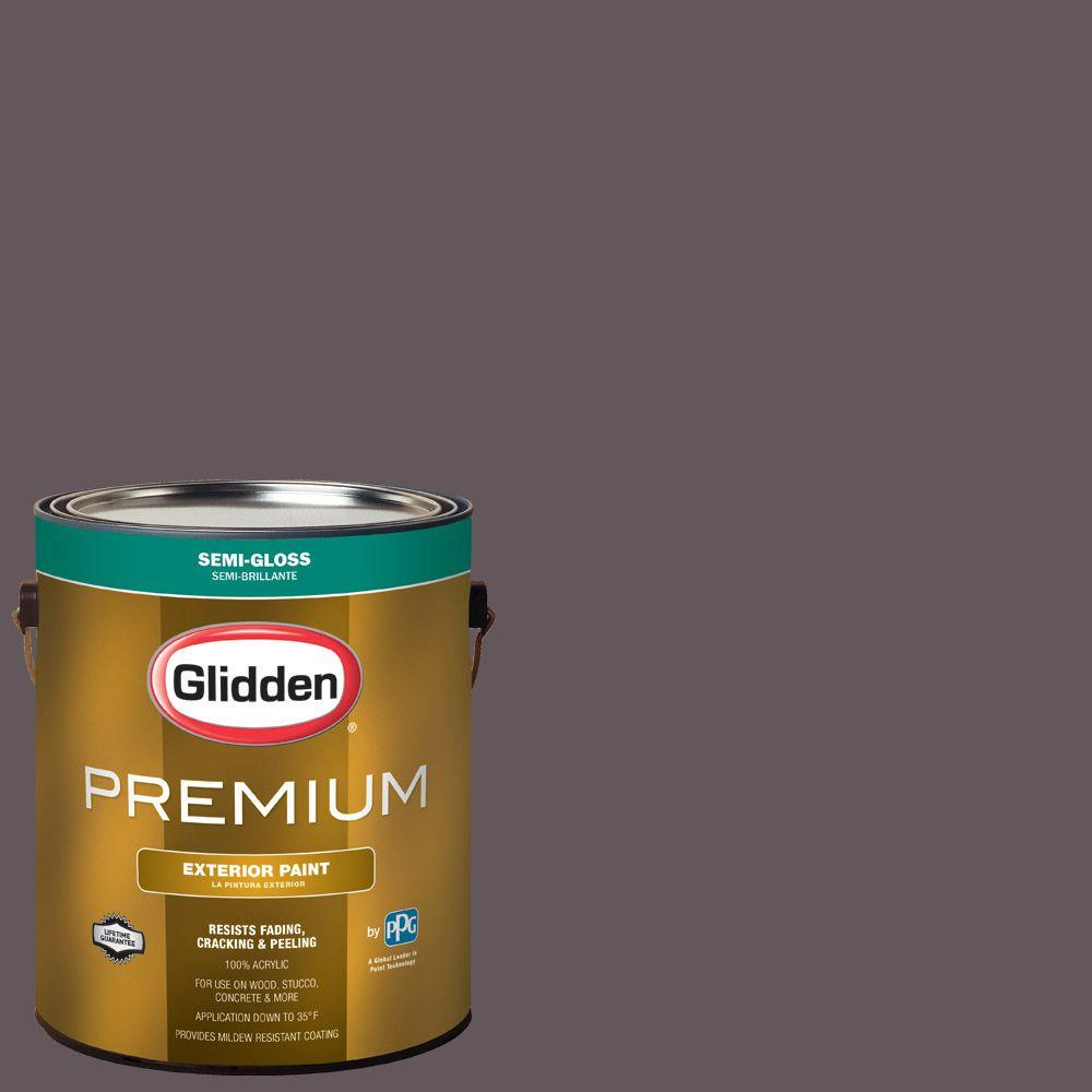 Glidden Premium 1-gal. #HDGCN60U Berry Brown Semi-Gloss Latex ...