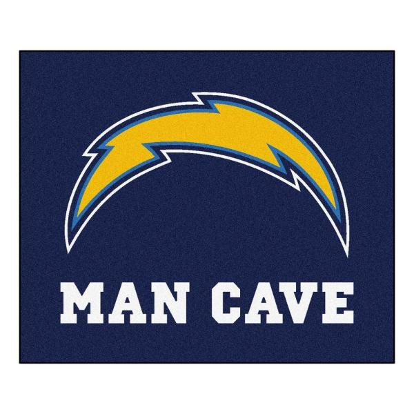 San Diego Chargers Blue Man Cave 5 ft. x 6 ft. Area Rug