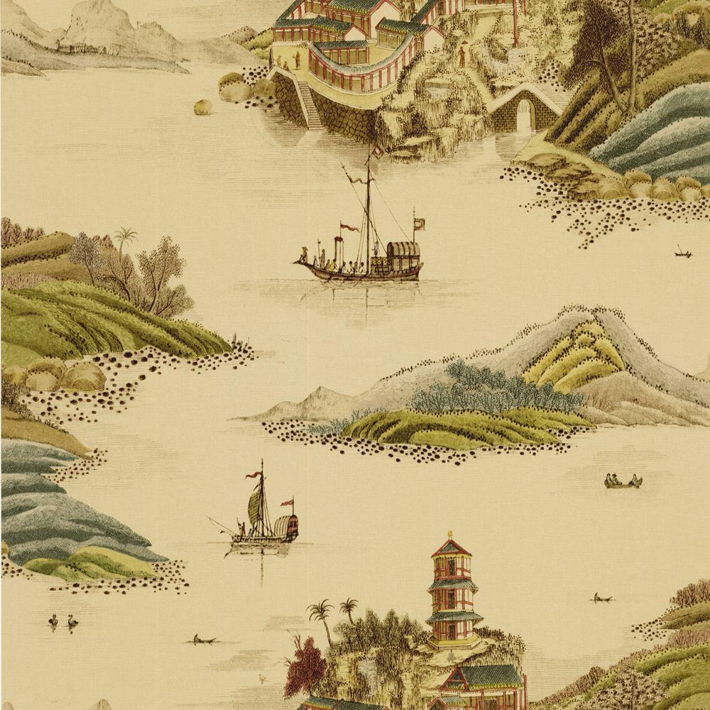 The Wallpaper Company 8 in. x 10 in. Neutral Dun Huang Route Wallpaper Sample