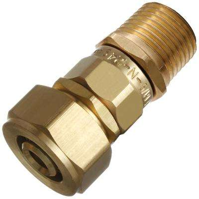 Kitec Transition Fitting 1/2 in. PEX-AL-PEX Comp x 1/2 in. MIP or 1/2 in. Female Solder Coupling
