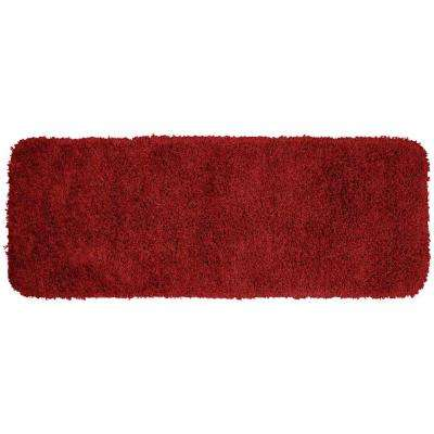 Jazz Chili Pepper Red 22 in. x 60 in. Washable Bathroom Accent Rug