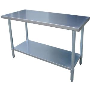 Sportsman Stainless Steel Kitchen Utility Table with Work Shelf ...