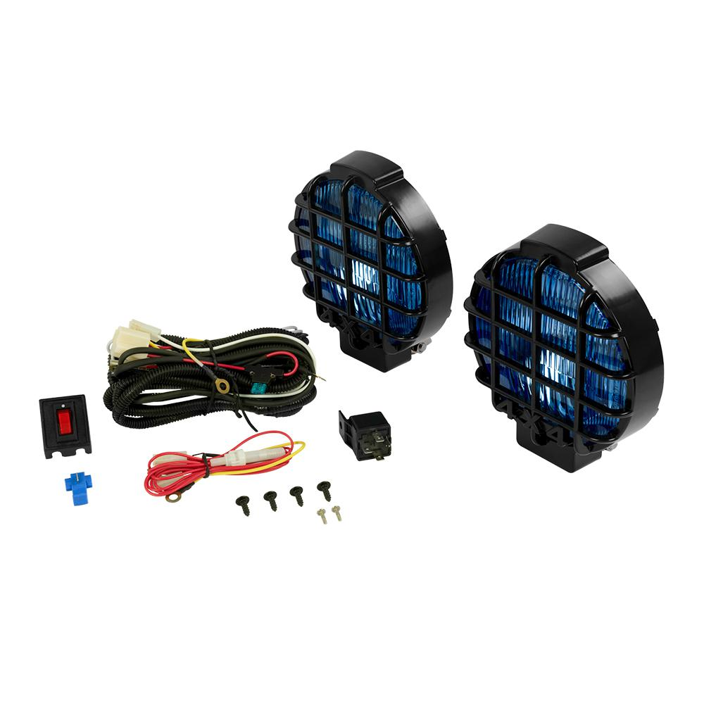 Towing Lights Equipment The Home Depot 2013 Chevy Traverse Trailer Wiring Harness 65 In Off Road Blue Halogen Truck Light Kit