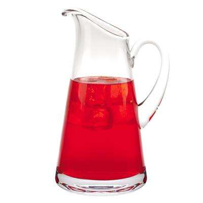 54 oz. 10.5 in. High Hampton European Mouth Blown Lead Free Crystal Pitcher