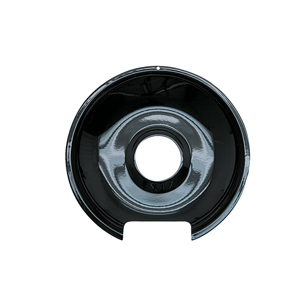6 in. Drip Pan in Black Porcelain