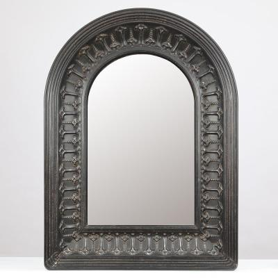 Large Arch Black Modern Mirror (48.1 in. H x 35.5 in. W)