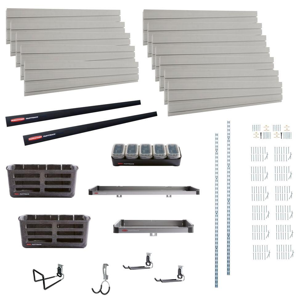 FastTrack Garage 8 ft. Wall Panel and Accessories Starter Kit