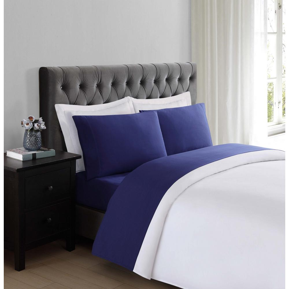 Etonnant 4 Piece Queen Sheet Set Deep Pockets Wrinkle Free Bed Sheets Everyday Soft  Navy