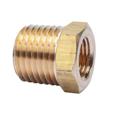 1/4 in. MIP x 1/8 in. FIP Brass Pipe Hex Bushing Fitting (10-Pack)