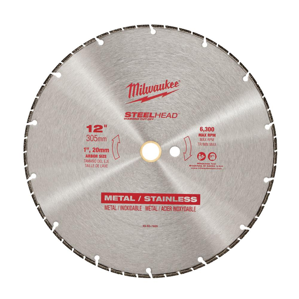 Milwaukee 12 in. Steelhead Diamond Cut Off Blade