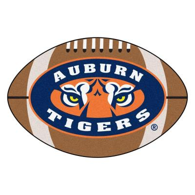 NCAA Auburn University Tigers Logo Brown 2 ft. x 3 ft. Specialty Area Rug