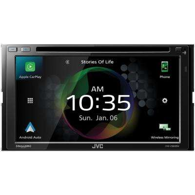6.8 in. Double-DIN In-Dash DVD Receiver with Bluetooth, Apple CarPlay, Android Auto and SiriusXM Ready