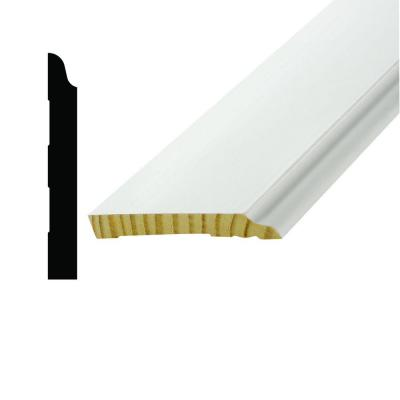 WM 660 9/16 in. x 4-1/4 in. x 96 in. Pine Primed Finger-Jointed Base Moulding