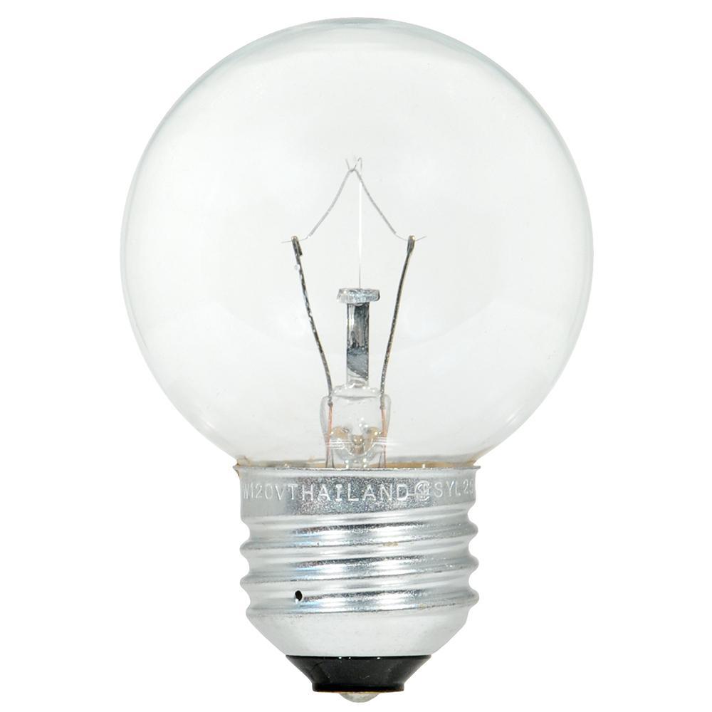 sylvania 25watt double life g165 light bulb 2pack