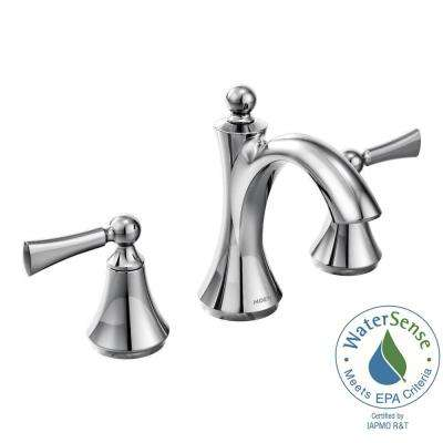 Wynford 8 in. Widespread 2-Handle High-Arc Bathroom Faucet with Lever Handles in Chrome (Valve Sold Separately)