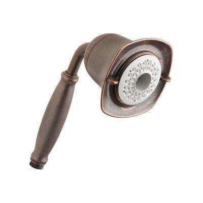 FloWise 3-Spray 4.6 in. Single Wall Mount Handheld Shower Head in Oil Rubbed Bronze
