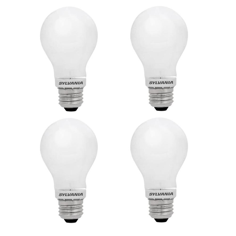Sylvania 60 Watt Equivalent A19 Dimmable Double Life Household Led Light Bulb Warm White 4 Pack
