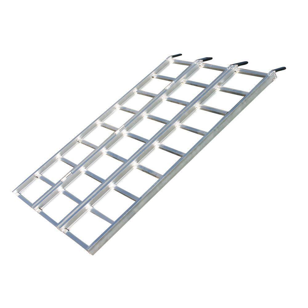 Aluminum Folding Ramps >> Yutrax Tri Fold Aluminum Atv Ramp Tx103 The Home Depot