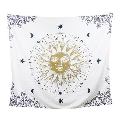 Multi-Colored Sun, Moon and Stars Boho Tapestry