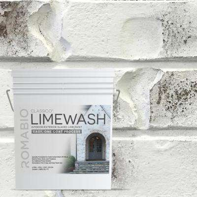 4 gal. Bianco White Limewash Interior/Exterior Paint