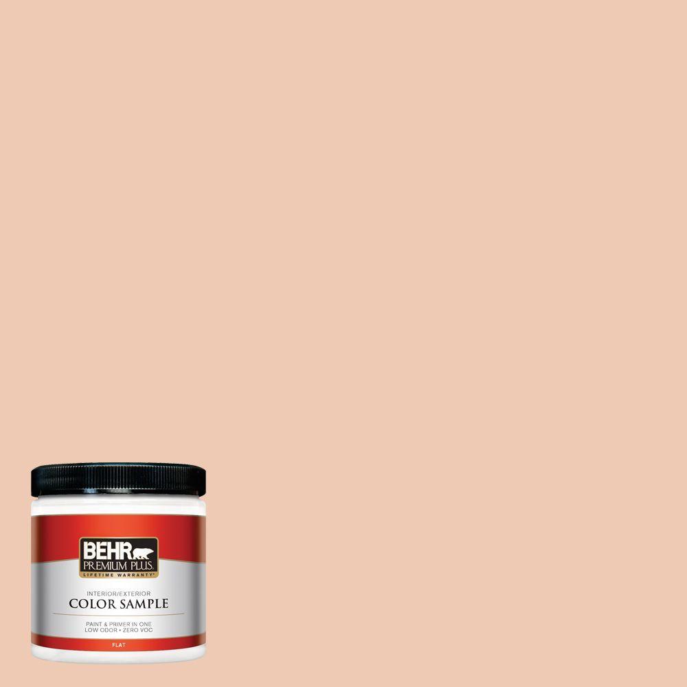 BEHR Premium Plus 8 oz. #240E-2 Peach Bud Interior/Exterior Paint Sample