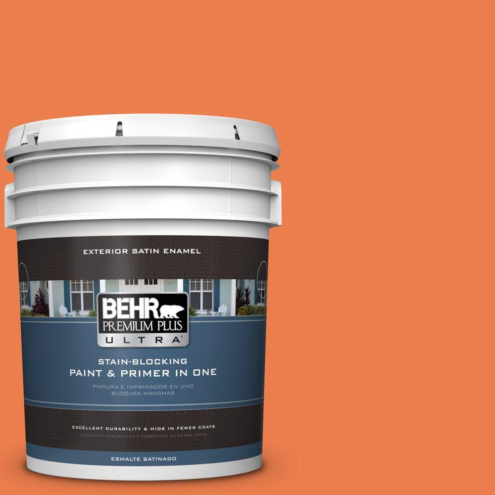 BEHR Premium Plus Ultra 5-gal. #P200-6 Sizzling Sunset Satin Enamel Exterior Paint