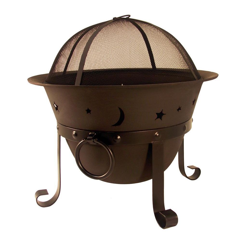 hampton bay celestial cauldron fire pit ad364 the home depot