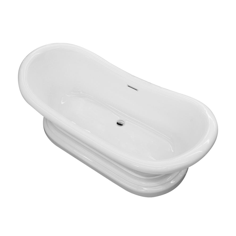 Ruby 5.9 ft. Acrylic Flatbottom Non-Whirlpool Bathtub in White