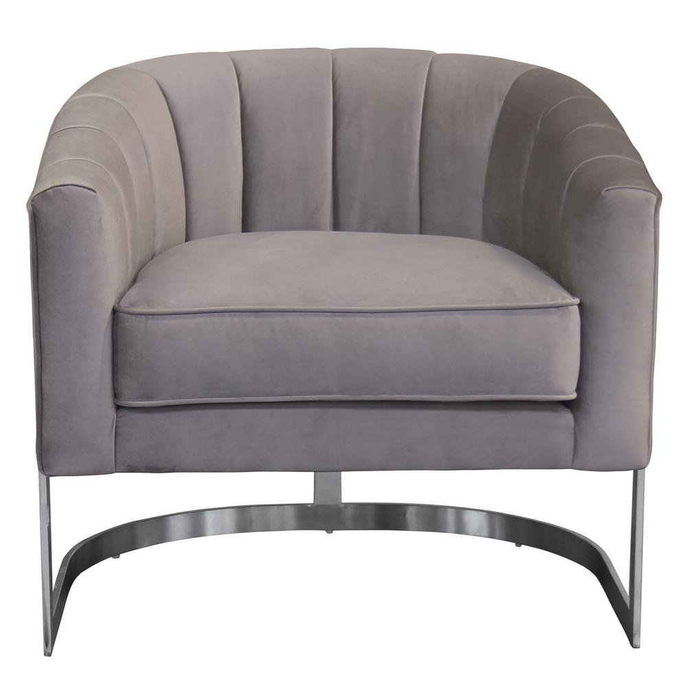 Hoffman Contemporary Beige Fabric Upholstered Accent Chair