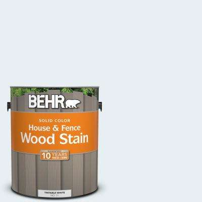 1 gal. #BL-W4 Ethereal White Solid Color House and Fence Exterior Wood Stain