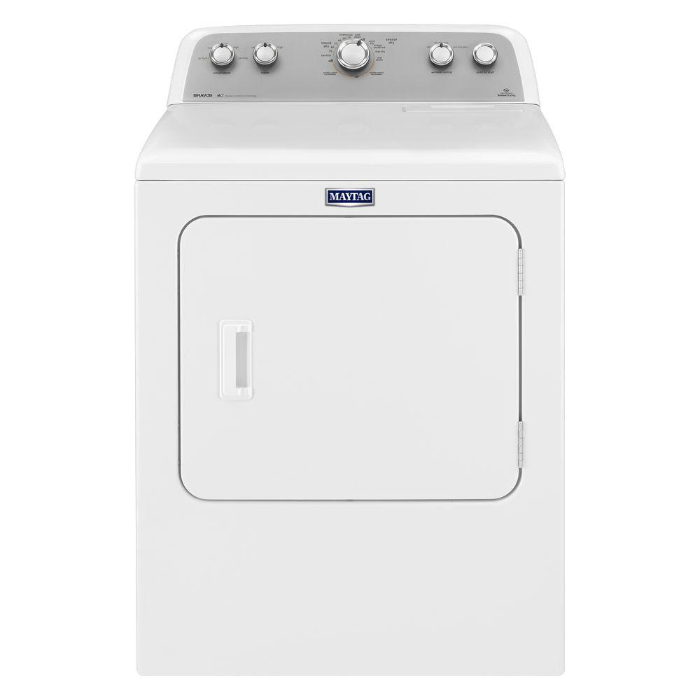 Maytag 7.0 cu. ft. 120-Volt White Gas Vented Dryer with Sanitize Cycle