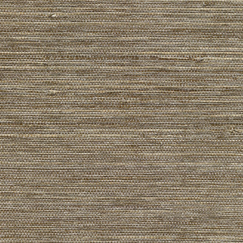 8 in. x 10 in. Liaohe Bronze Grass Cloth Wallpaper Sample