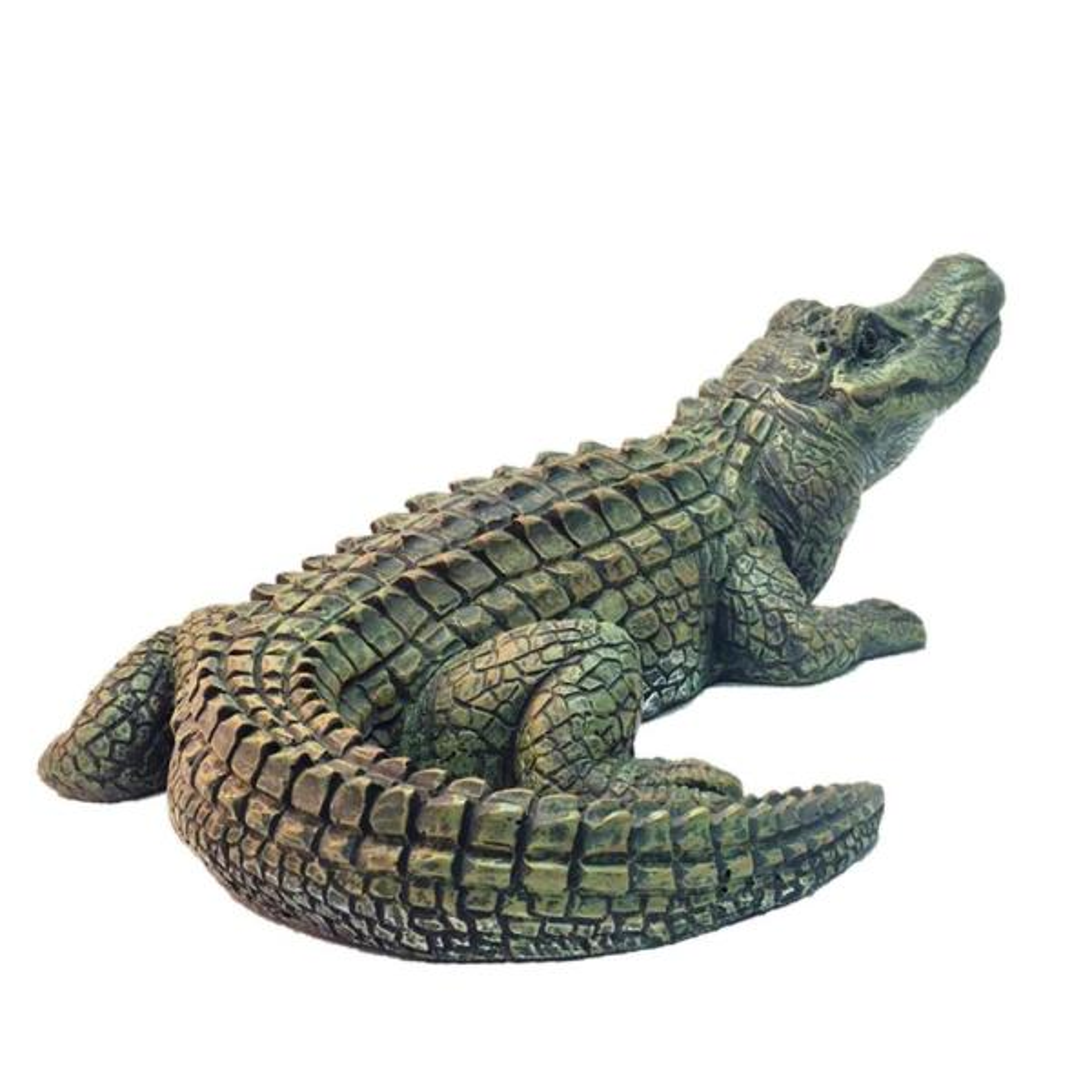 22 in. Gator the Alligator Bronze Patina Collectible Beach Statue