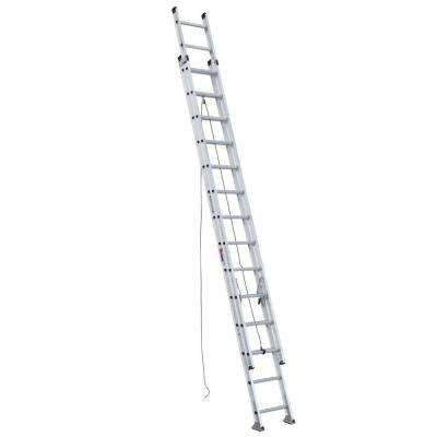 28 ft. Aluminum D-Rung Extension Ladder with 300 lb. Load Capacity Type IA Duty Rating