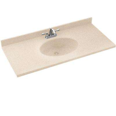 Chesapeake 37 in. W x 22-1/2 in. D x 9-5/8 in. H Solid-Surface Vanity Top in Bermuda Sand with Bermuda Sand Basin