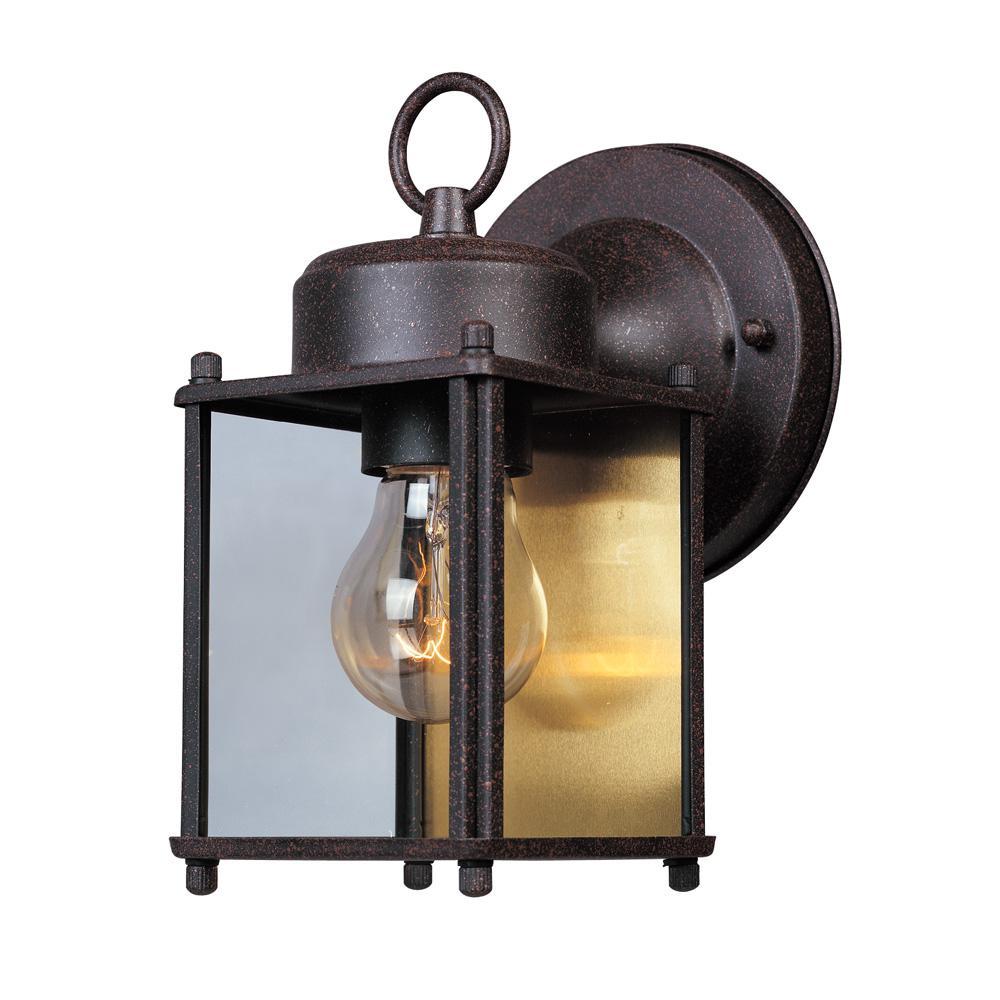 Preston Collection Rustic Patina Outdoor Wall-Mount Lantern
