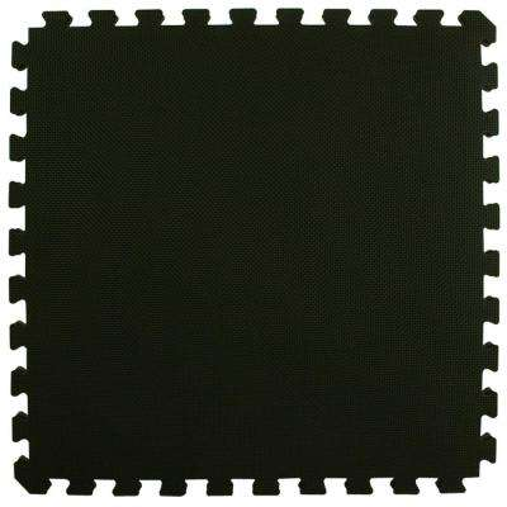 Home Sport and Play Black/Gray 24 in. x 24 in. x 7/8 in. Foam Interlocking Floor Tile (Case of 25)