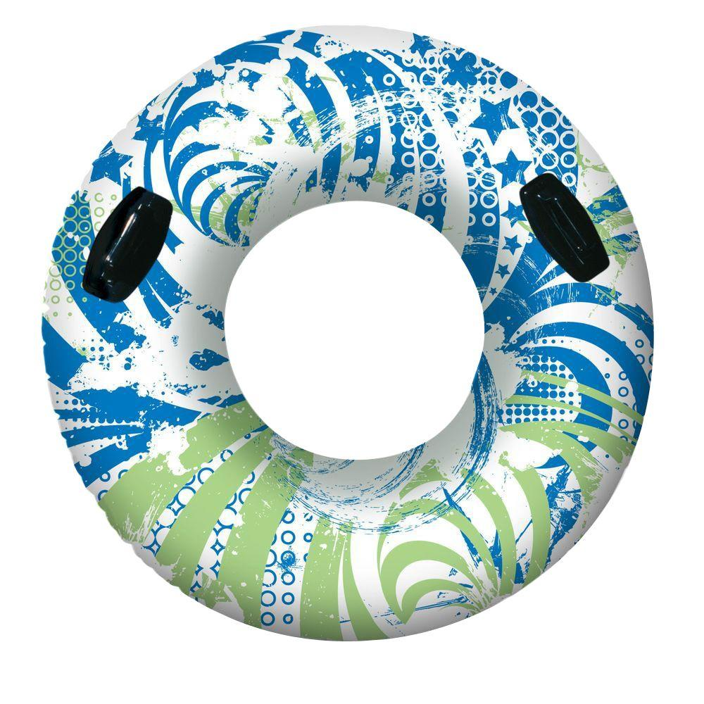 Poolmaster Green and Blue 54 in. Aqua Fun Giant Sport Swim Tube Pool Float