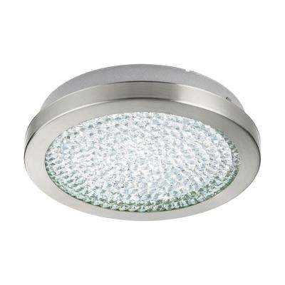 Arezzo 2 100-Watt Matte Nickel Integrated LED Semi-Flushmount