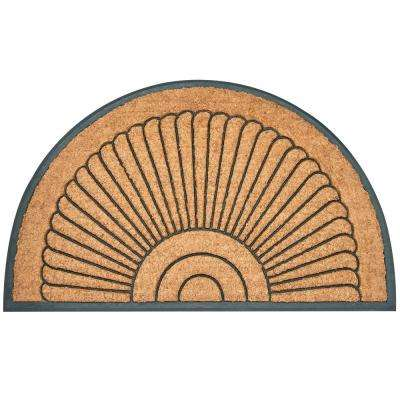 Large Arc du Soleil Tan 30 in. x 18 in. Coir Outdoor Door Mat