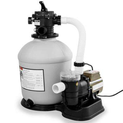 16 in. Sand Filter System with 3/4 HP 3100 GPH Above Ground Swimming Pool Pump