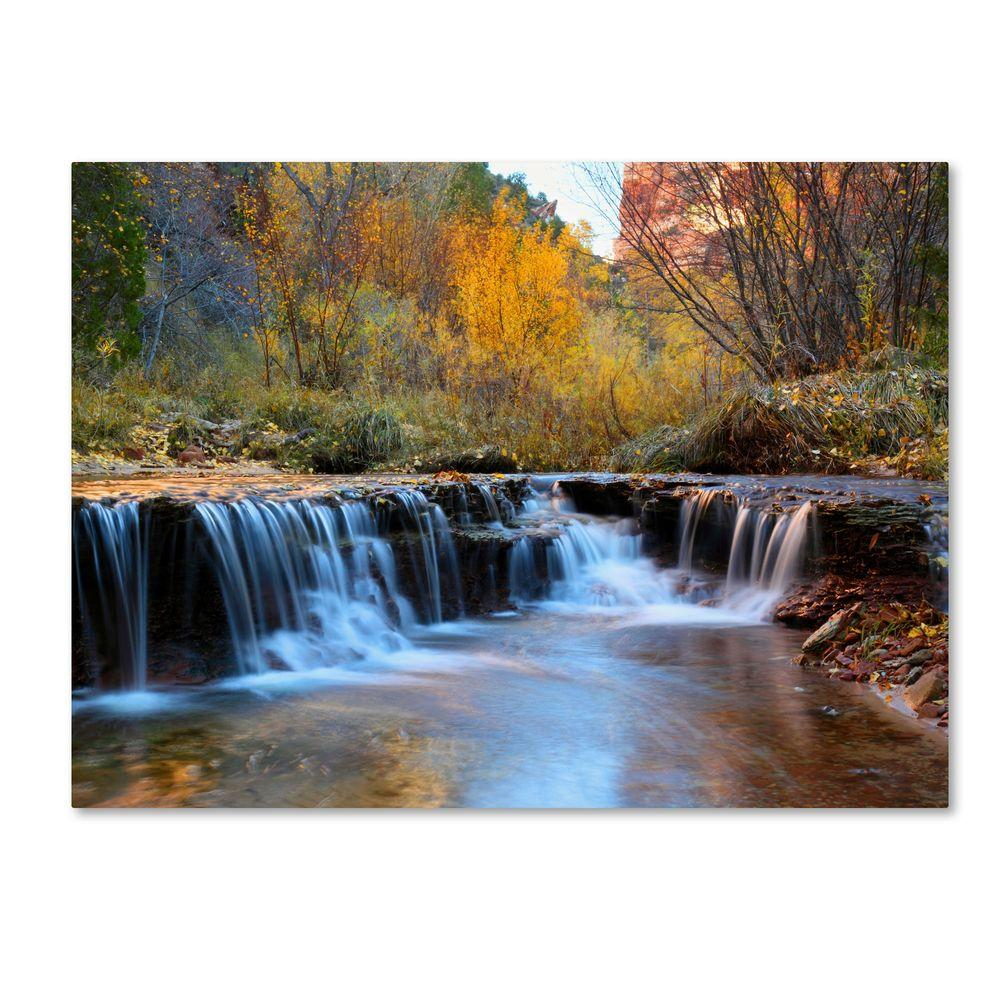 Trademark Fine Art 30 in. x 47 in. Zion Autumn Canvas Art