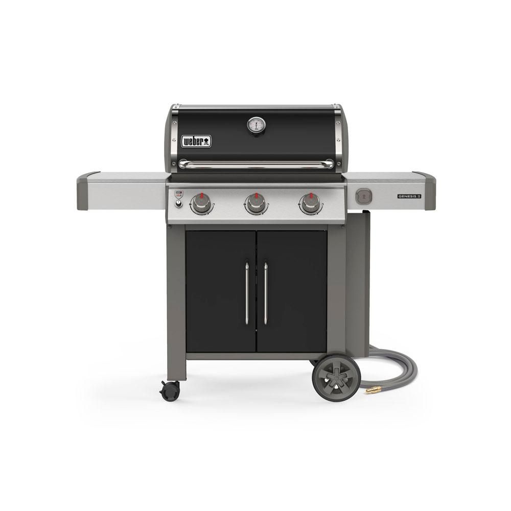 Genesis II E-315 3-Burner Natural Gas Grill in Black with Built-In